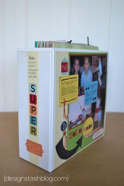 Design Stash: Organizing Kids Schoolwork