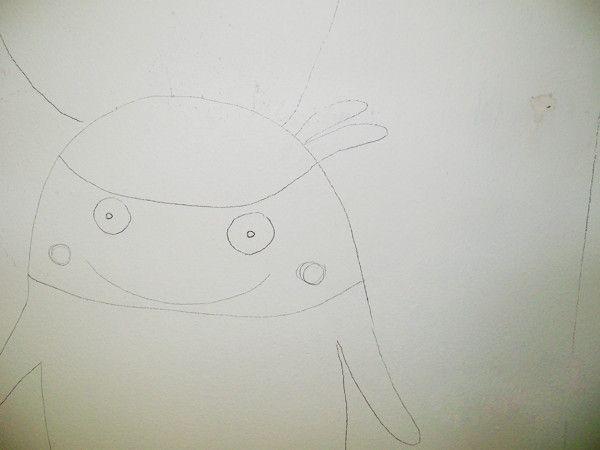 proceso de la ilustración en el muro