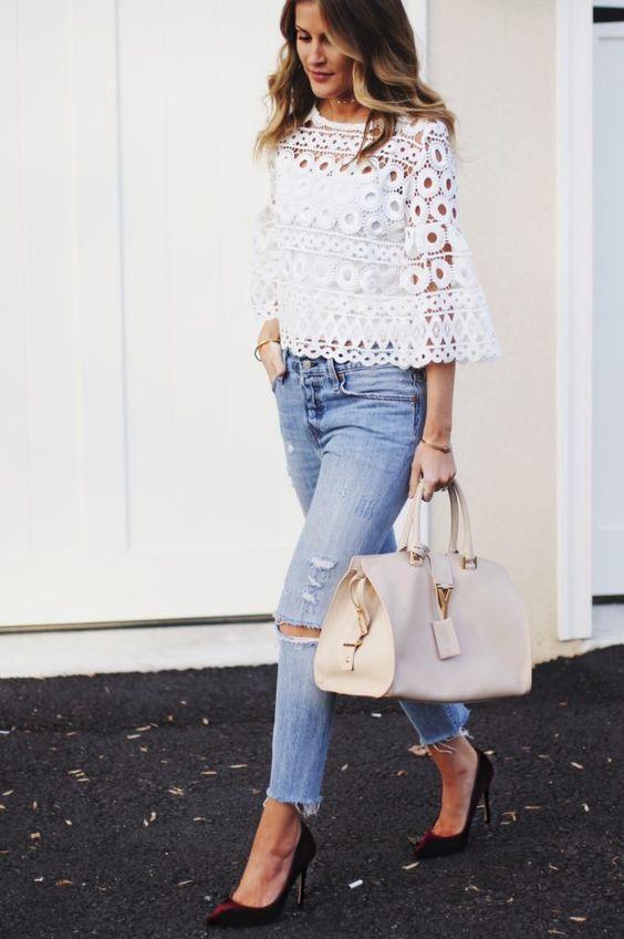 844c396ab1 Blusas blancas elegantes para damas