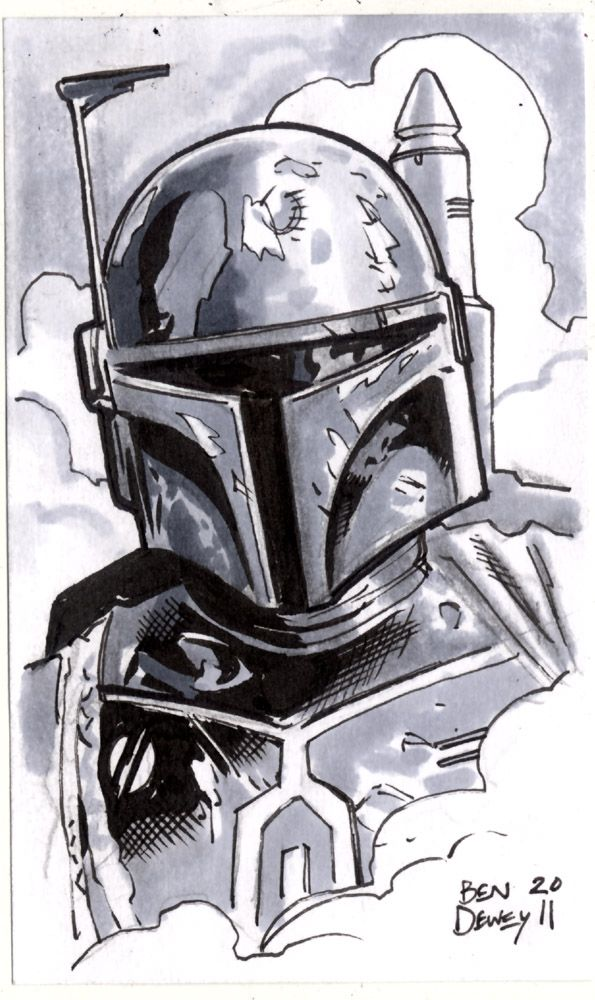 Boba Fett - Ben Dewey 2011 - Unlicensed Star Wars Sketchcard