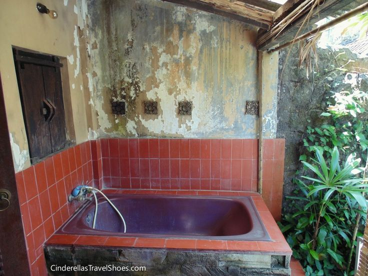 Hot shower and privacy was a luxury in Ubud, Bali
