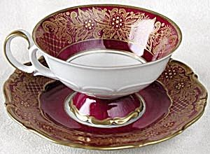 Vintage Weimar Dora Footed Cup & Saucer: