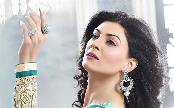 Download wallpapers Sushmita Sen, indian actress, beauty, Bollywood, brunette