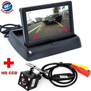 Auto Wayfeng® Assistance Auto Parking New 4LED voiture de vision nocturne CCD Caméra de recul avec caméra 4,3 pouces LCD couleur de voiture…