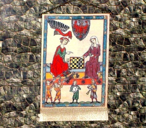 The Chess Players Tapestry Medieval Dollhouse by CalicoJewels