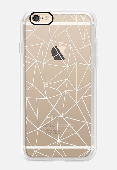 Casetify iPhone 7 Case and Other iPhone Covers - Abstraction Outline White Transparent by Project M | #Casetify