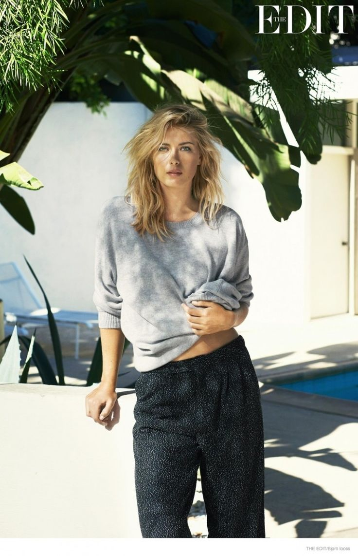 maria sharapova photoshoot02 774x1200 Maria Sharapova Stars in The Edit, Talks Her Simple Life