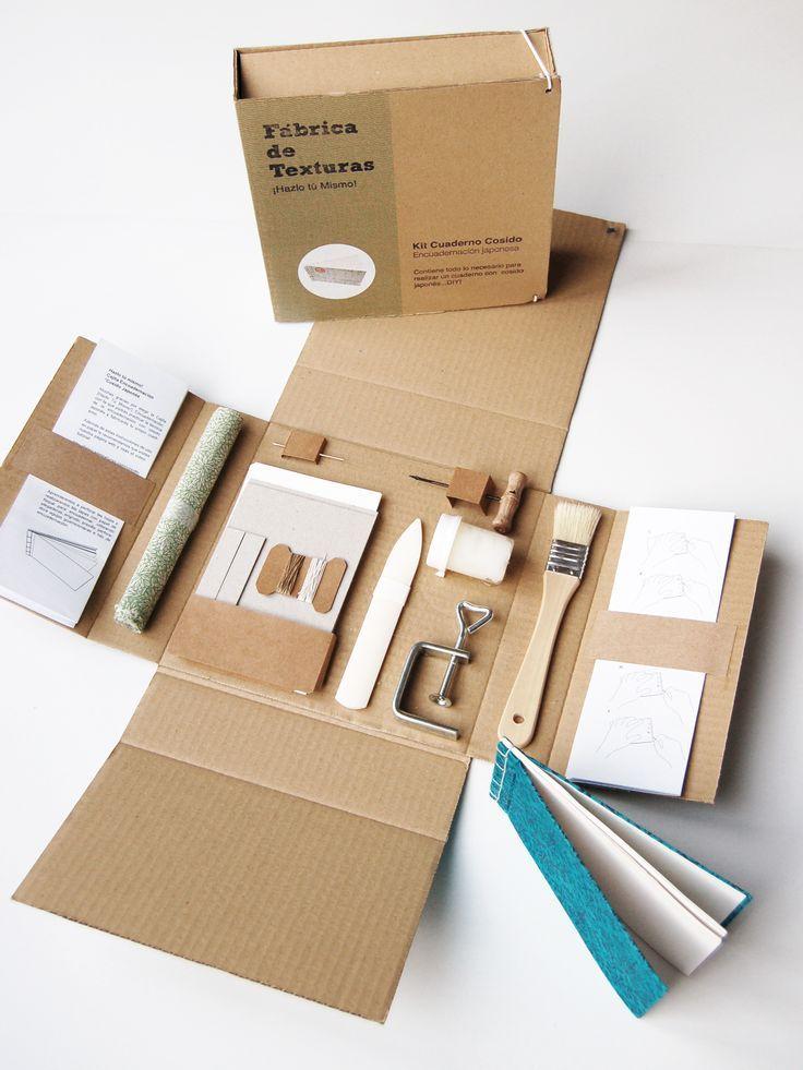 japanese bookbinding kit http://www.fabricadetexturas.bigcartel.com/product/cajita-encuadernacion-cosido:                                                                                                                                                                                 Más