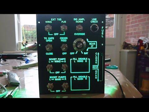 DCS A10C Simpit Fuel Panel Prototype - YouTube | flight sim | Audio