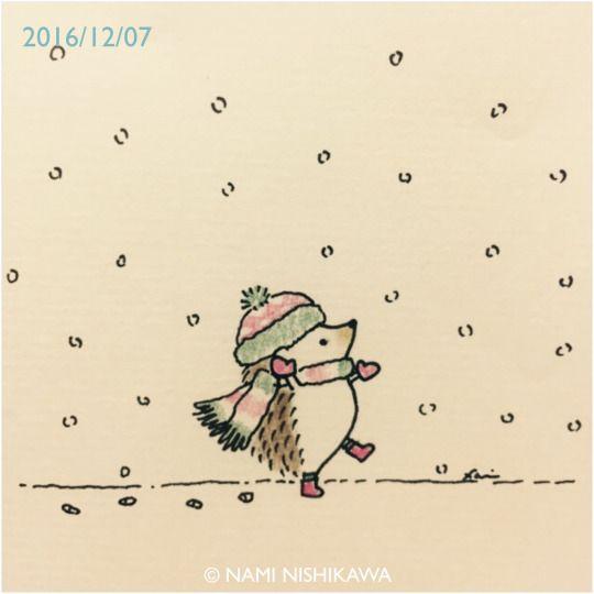 Happy winter hedgie
