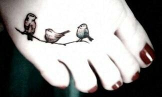 Maybe something like this for when we are done having our kids, a bird for each one?