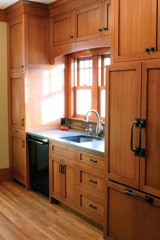 Quarter Sawn Oak Cabinets Kitchen Re Inspiration Links For Kitchens With Wood Kitcheninteriordesign