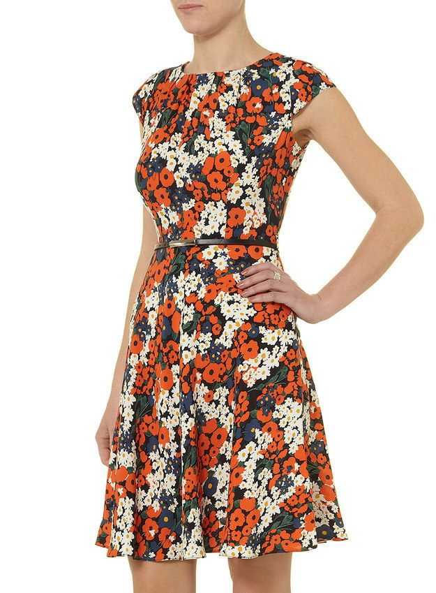 Billie and Blossom Orange Floral Dress, $45 | 100 Insanely Cute Spring Dresses Under $50