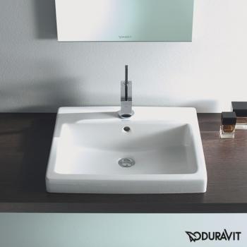 Duravit Vero Einbauwaschtisch weiß mit Wondergliss mit 1 Hahnloch - 03155500001 | Reuter Onlineshop