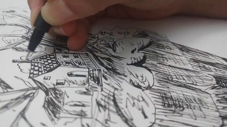 Pen Drawing | Rough and  Speed Drawing