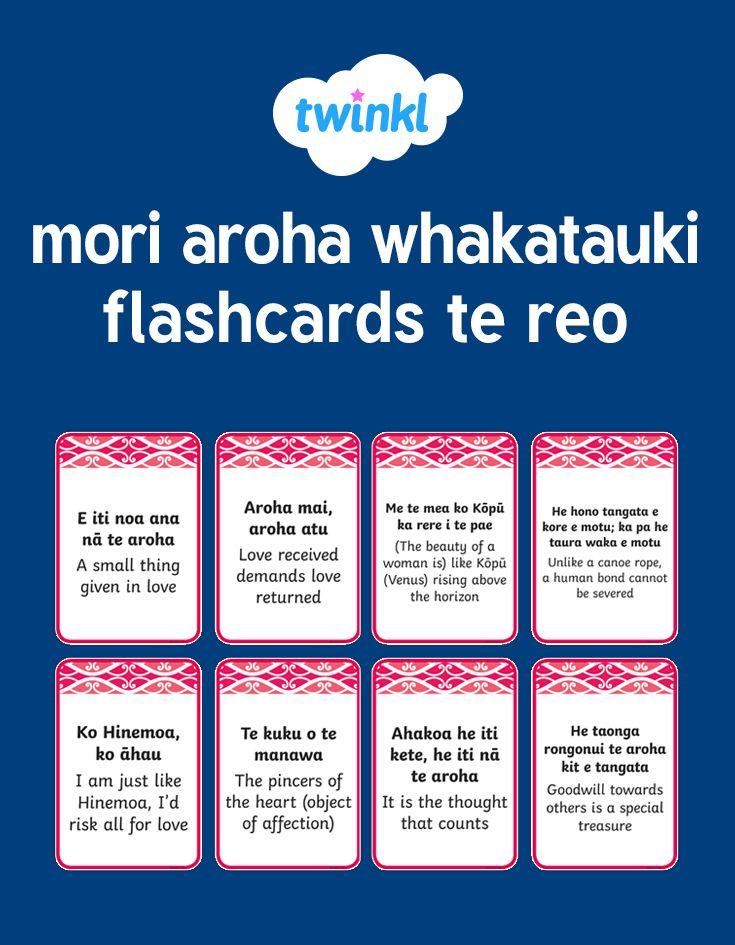 mori aroha whakatauki flashcards