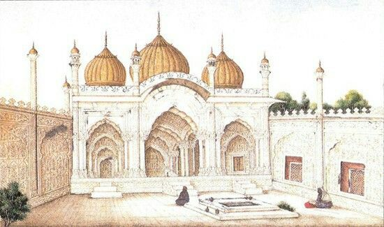 Moti Masjid (Pearl Mosque, W.Dalrymple,City of Djin