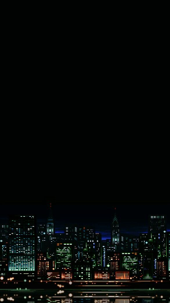 City Night Falls Pixel City Aesthetic Images City Aesthetic