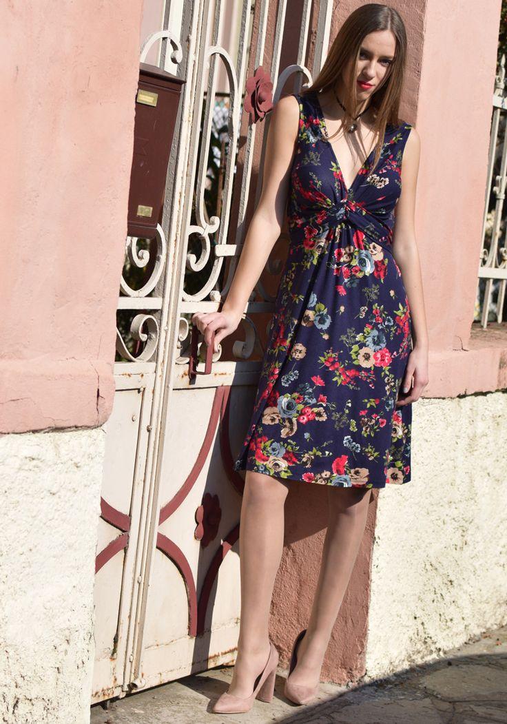 DRESSES : Floral Print Dress   STYLATI