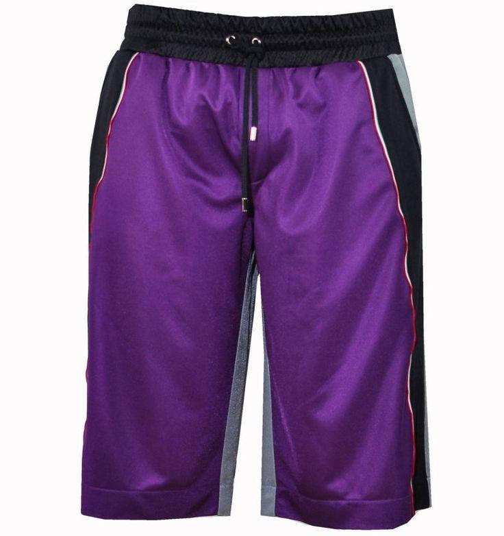 DOLCE & GABBANA Sport Shorts Lila Grau 00726