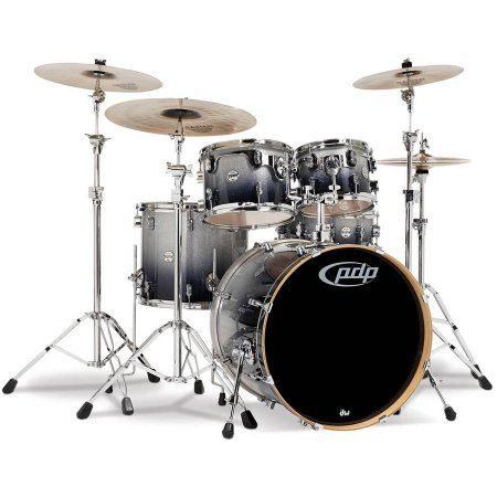 Pacific Drums CM5 Concept Maple Drum 5-Piece Shell Pack, Silver Black Fade, Multicolor