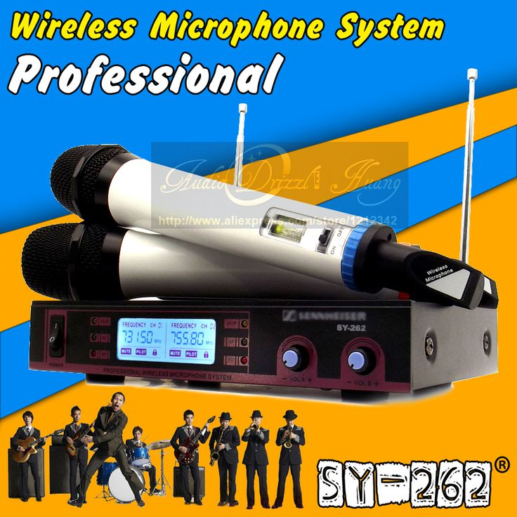 Free Shipping Dual Handheld UHF Wireless Microphone System Professional Stage KTV Karaoke Mic Mike Microfone Sem Fio Microfono