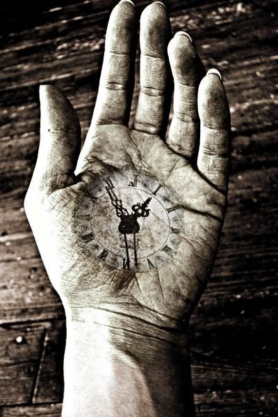 Time On Your Hands. S) - I find this sad, I don't wear a watch and don't care for time - except I am never late or keep someone waiting - different!