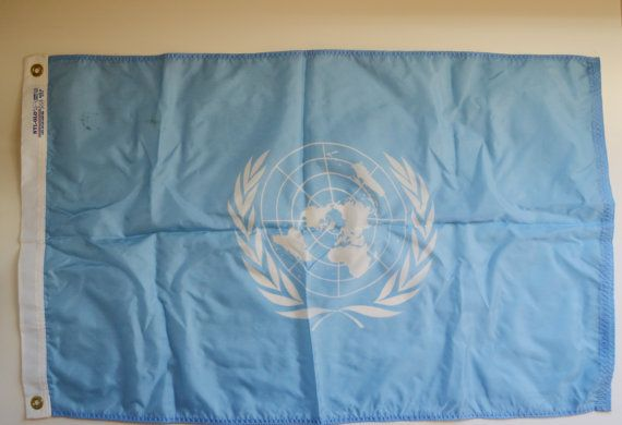 Vintage United Nations Flag UN Flag Blue and by JudysJunktion, $75.00
