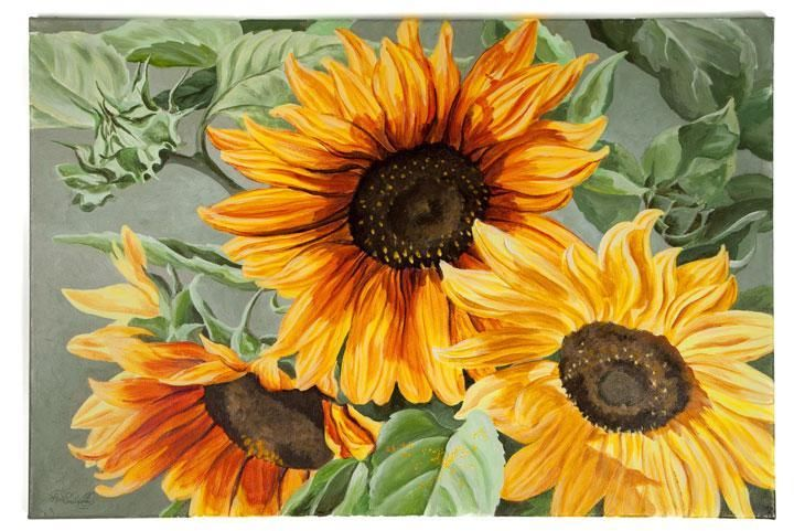 929 best images about art painting ideas on pinterest for How to paint sunflowers in acrylic