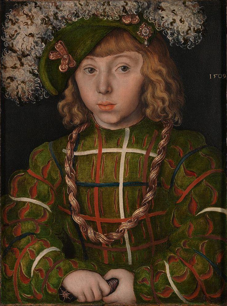 Lucas Cranach the Elder - Portrait of Johann Friedrich the Magnanimous - Google Art Project - Lucas Cranach l'Ancien — Wikipédia
