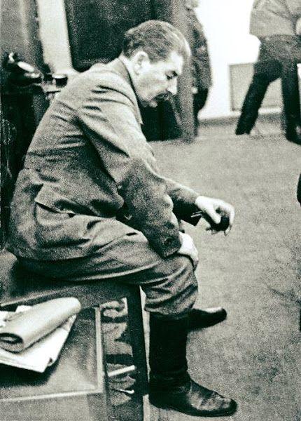 И.В. Сталин. Редкая фотография