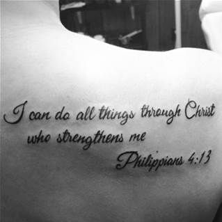 Philippians 4 13 Tattoos Girly - Bing Images
