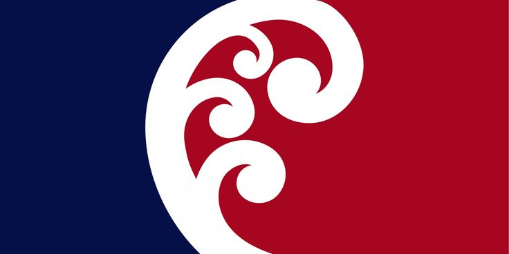 Unity Koru by Paul Densem, tagged with: Blue, Red, White, Koru, Unity.