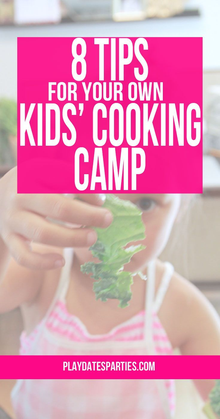 Want to teach your kids to cook? With a little bit of planning and some creativity, you can have your own kids cooking camp at home this summer!  http://playdatesparties.com/2016/04/8-tips-kids-cooking-camp.html