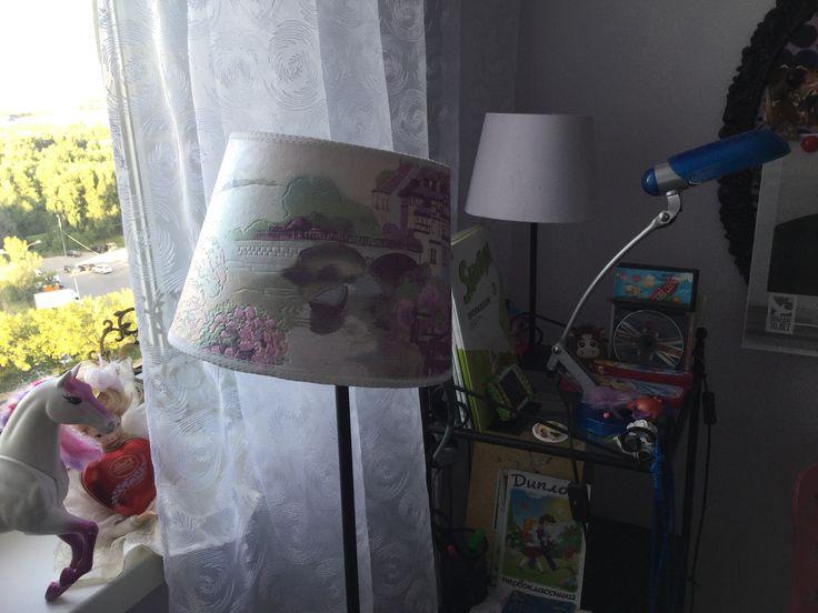 Переделка лампы в детскую комнату.
