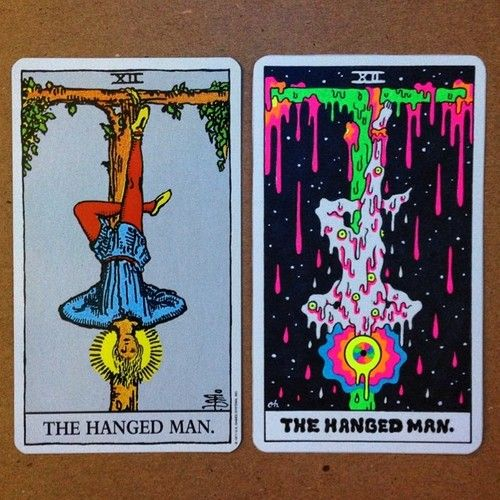 Just finished 'The Hanged Man'… 7 more major arcana cards...
