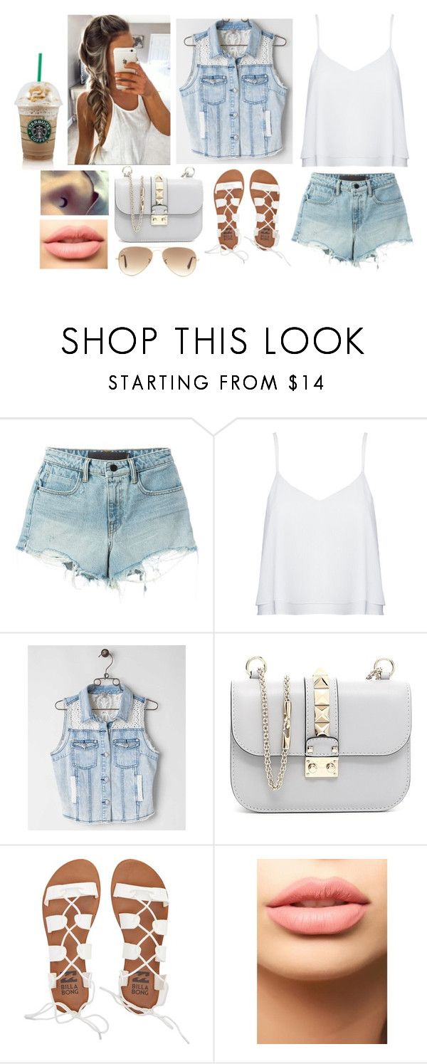 """Sin título #365"" by burusa2 ❤ liked on Polyvore featuring T By Alexander Wang, Alice + Olivia, Miss Me, Valentino, Billabong, LASplash and Ray-Ban"