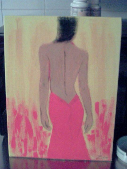 #rosso #schiena #quadro