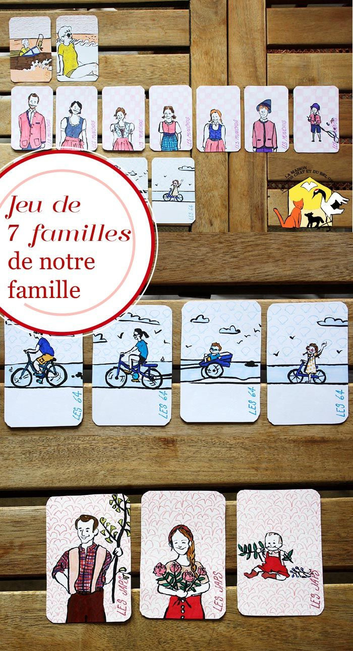 Notre Jeu De 7 Familles Familial Jeux En Famille Jeux Et Cartes