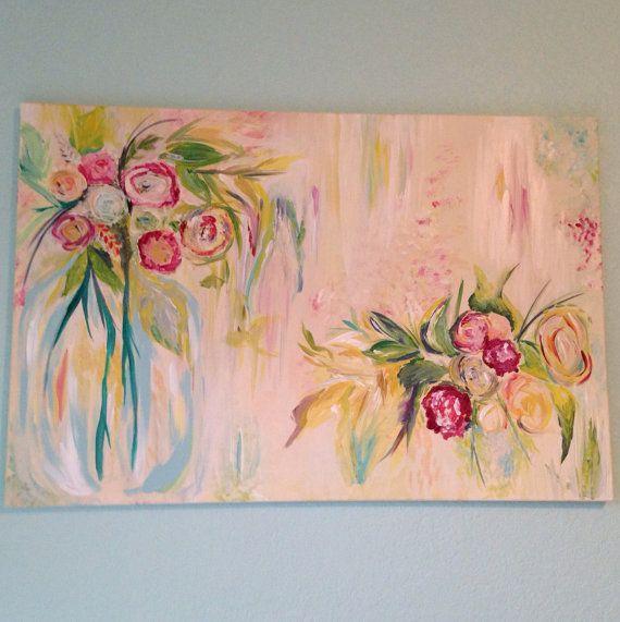 17 meilleures id es propos de peintures acryliques sur pinterest peinture - Idee tableau peinture ...