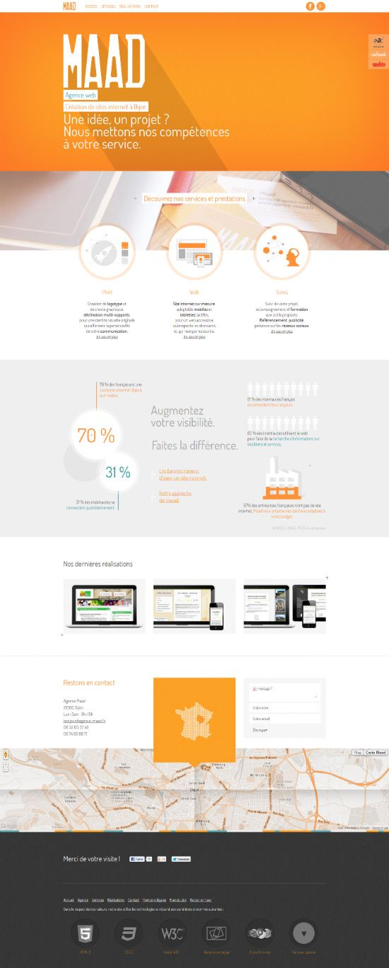 Web Design Inspiration  40 Inspirational examples of orange color in web design