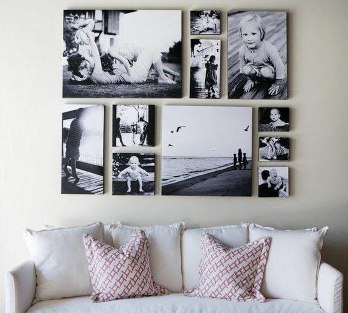 55 ausgefallene bilderwand und fotowand ideen archzine net leinwand selber machen fotoleinwand 120x80 drucken