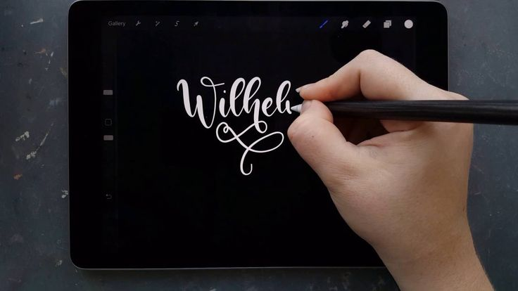 Lettering a bunch of Instagrammer's names, while practicing my flourishing. This is realtime. The App I use is Procreate, I'm using a 9.7inch iPad Pro, Apple...