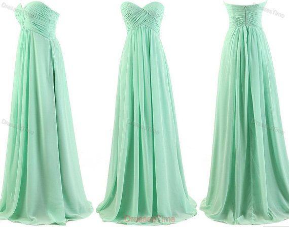 Hot Selling Sweetheart Chiffon Pleat prom dresses,evening dresses bridesmaid dress on Etsy, $98.00