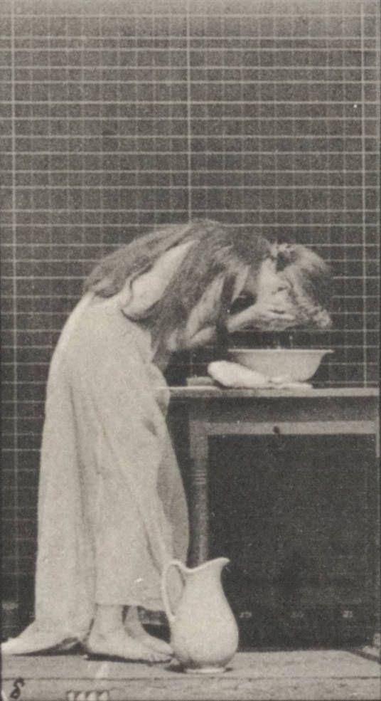 Haare waschen um 1900