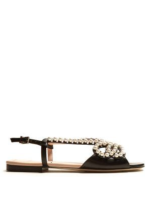 7476e4eb630 Pearl Land embellished leather sandals