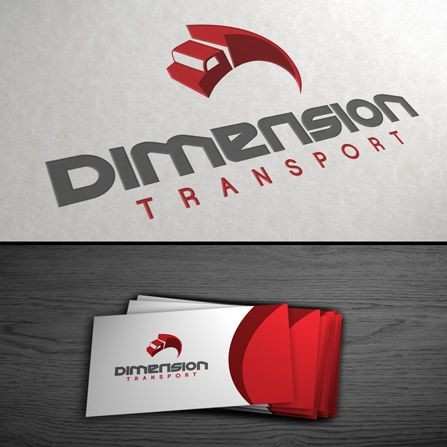 Réalisation - Conception logo Dimension Transport