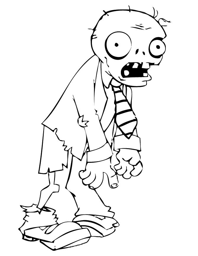 Plants Vs Zombie Coloring Pages