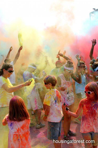 TheColor Run - happiest 5k on the planet.  I want to recreate this on a small scale for a group play party