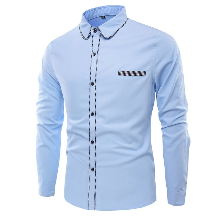 >> Click to Buy << Spring Time-limited 2017 New Men Cotton Shirts College Style Dress Shirt For Fashion Slim Fit Mens Long Sleeve Designer Clothes  #Affiliate